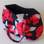 Red rose tote, Navy rose handbag