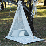 Grey Zig Zag Picnic Blanket