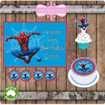 Spiderman Edible Image Icing cake Toppers