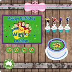 The Wiggles Edible Image Icing Cupcake Toppers