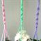 Set of 3 Macramé Pot/Plant Hangers - Pink, Lavender, Mint