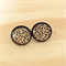 Black Leopard Print Resin Stud Earrings