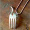 Cat necklace made from a fork