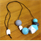 Light Blue, Custom Greys, Mini Polka Dots, Ombre & Whitewash #stella Necklace