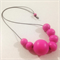 Magenta #stella Wood Bead Necklace