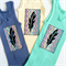 Fun Brightly Coloured Baby Singlets, Screen printed Black Feather, size 00 OR 0