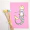 "Mermaid Illustration Print  8x10"" / A4"