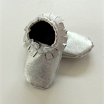 3 - 6 month leather shoes silver