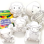 Colour Me Farm Set with Washable Markers