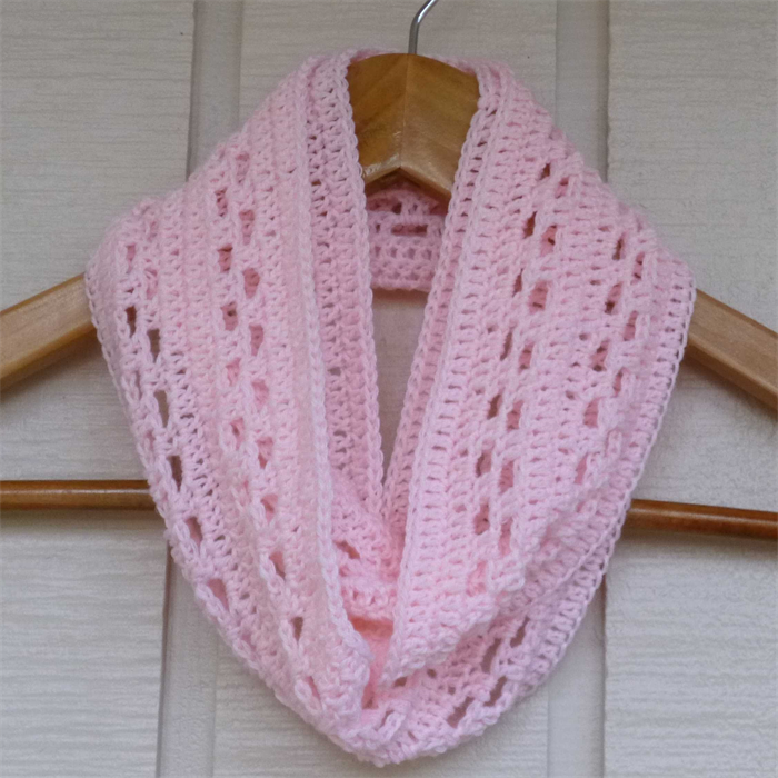 products sweater pink knit scarf infinity