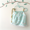 Pale Blue and Gold Shimmery Swing Top - crop, girl, baby, Summer, birthday