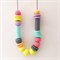 Pastel Polymer Clay Statement Necklace