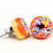 Orange iced donut stud earrings - with sprinkles of course