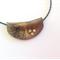 Polymer clay Necklace in black and gold