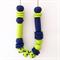 Wasabi & Navy Polymer Clay Statement Necklace