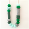 Greens & Grey Polymer Clay Statement Necklace