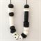 Monochrome Polymer Clay Statement Necklace