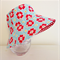 Girls hats in sweet red floral pattern