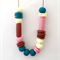 Copper, Teal, Dusty Rose & Vanilla Polymer Clay Statement Necklace