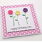 3 Button Flowers Birthday Card for Mum