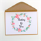 Thinking of You Card| Sympathy Card| Floral Wreath|Personalise|SYMP003