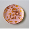 Pink / Rose & Gold Leaf Polymer Clay Jewellery Dish Size Small