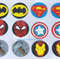 12 Superhero Edible Cupcake Toppers
