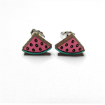 Watermelon - Hand Painted Studs