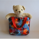 Butterfly bag for girls, Red blue girls tote