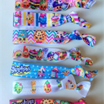 Shopkins 7 Day Pack Fan Pack FOE Elastic Hair Ties Chic Bracelets  Free Post