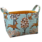 Fabric Storage Organiser Bin Basket - Fantasy Woodland