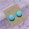 Fabric Button Earrings - Jewellery for Mums - Aqua