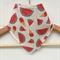 Organic Baby Bandana Bib, drool bib in Watermelon Icecream