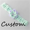 CUSTOM ORDER: 2 crochet headbands with double flowers + bead, newborn - 9 months