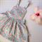 Ruffle tea dress in shabby blue sz 0 - 6