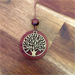 Tree of life jarrah pendant