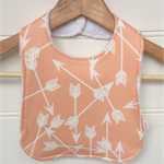 Organic Baby Bib in Peach Arrows