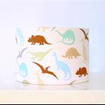 Dinosaur fabric lampshade, boys room, nursery decor, kids lampshade
