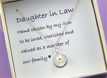 Daughter In Law Gift - Gift Boxed Jewellery Thank You Gift
