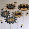 Batman cake toppers