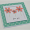 For You coral pink glitter flowers turquoise polka dots