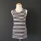 Navy+Ivory Stripe Top - size 8