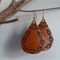 Tooled Leather Earrings with Sterling Silver Hooks