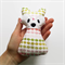 Pink and Green Geometric Fox Rattle