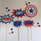 Captain America cake toppers