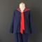 Blue Sailor Suit, Red Trim - size 8