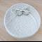 White lace porcelain ring dish. Wedding ring holder. Ring bowl. Ceramic