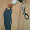Leather feather key ring