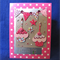 Happy Birthday 'Cupcakes and Bunting' on Pink Dotty Card