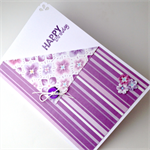 Birthday Card - Purple Stripes